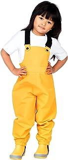 JAN & JUL Puddle-Dry Rain Bib Pants for Boys Girls Toddlers Kids