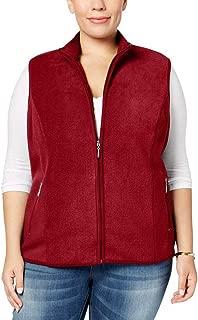 Karen Scott Sports Womens Plus Zeroproof Fall/Winter Fleece Outerwear Vest