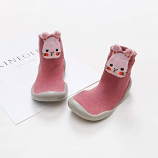 Kids Soft Rubber Sole Unisex Baby Shoes First Shoes Baby Shoe Knit Booties Anti-Slip Baby Walkers Toddler First Walker Bab...
