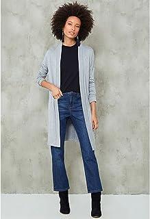 Calça Jeans Reta Recorte Costas