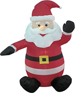 BZB Goods 4-foot Christmas Inflatable Santa Claus Blow-Up Yard Decoration, Red, 4 Foot