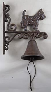 Cast Iron Hanging Scottie Dog Bell