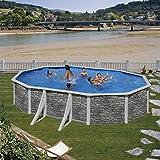 Pool Set Piedra cerdana by Gre–ovalado Platillos 610x 375x 120cm