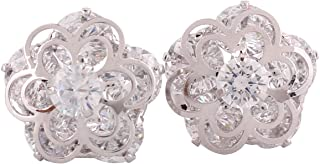 Personalized AAA Cubic Zircon Clip on Earrings Platinum/Gold/Rose Gold Plated Earring