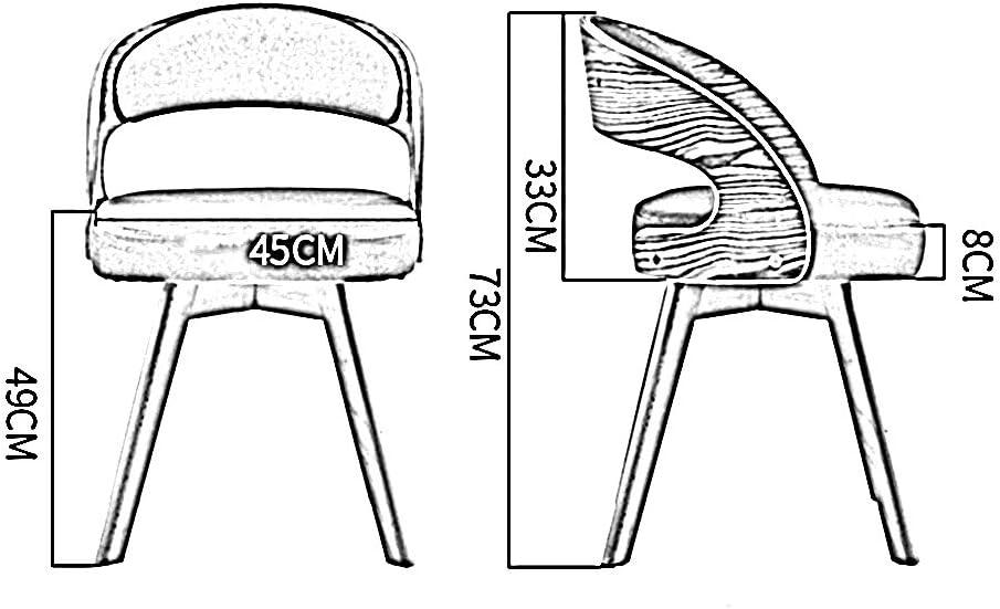 HURONG168 Chaises de cuisine Nordic mode bois chaise à manger balcon loisirs table et chaises chaise en bois siège lounge (Couleur : Gris clair) Bleu
