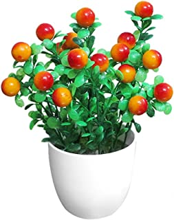Artificial Pot - 1pc Potted Artificial Plant Fruit Stage Garden Wedding Home Party Decor Props Useful - Bamboo Greenery Topiary Sale Stems Pack Blue Hydrangea White Rustic National Aquarium Priva