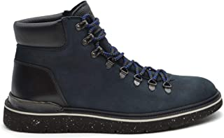 Luxury Fashion | Hogan Men MCBI38184 Blue Leather Ankle Boots | Season Outlet