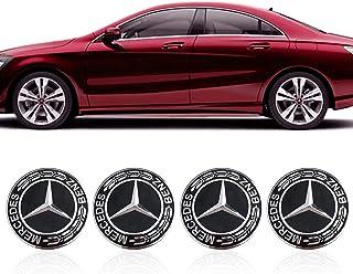 476b434bfff Hihey 4 Piezas Rueda de Coche Tapas centrales Cubiertas Insignia del  Logotipo del Coche para Mercedes