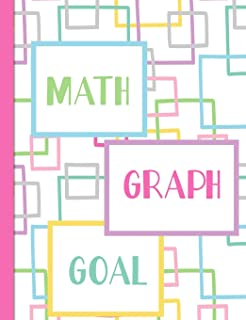 Math Graph Goal: Graph Paper Composition Notebook with 1/2-inch Grids