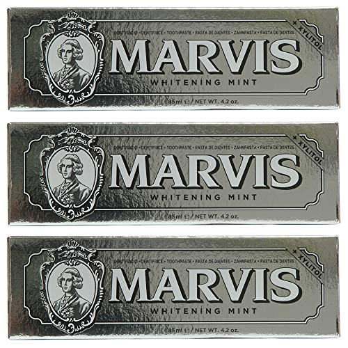 Marvis Zahncreme Whitening Mint 85ml, 3er Pack (3 x 85ml)