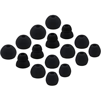 ALXCD Replacement Ear Tips for Powerbeats Pro Headphone, 8 Pairs S/M/L/D 4 Sizes Soft Silicone Earbud Tips, Fit for Powerbeats Pro (Black)