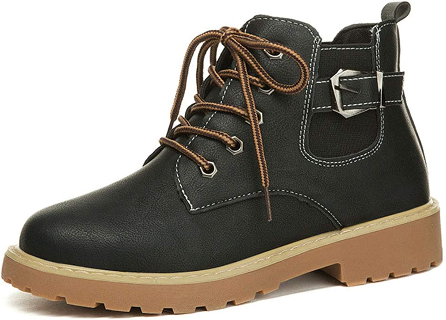 JUNE Women's Lace Up Buckle Chukka Boots Work shoes
