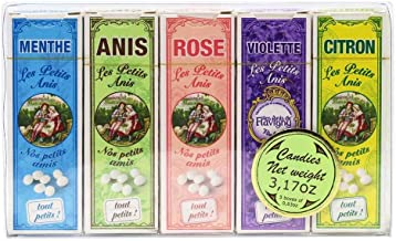Les Anis de Flavigny - Set of 5 Boxes of Anise Candies (Assorted Flavors), 150g