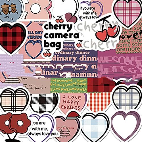 CHENX Coreano Ins-Style Cute Hand Account Stickers Trolley Personalizzato Valigia Bagaglio Modello Graffiti Fai da Te Adesivi Impermeabili 90 Fogli