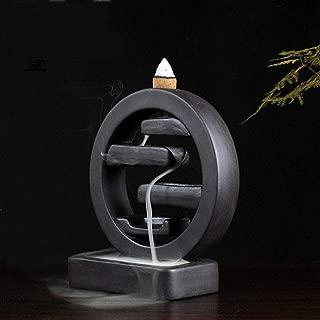 BERTERI Waterfall Incense Ceramic Backflow Incense Burner Creative Home Decor Incense Holder Censer Living Room Office Ornament