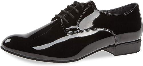 Diahommet Hommes Chaussures de Danse 179-025-038 - Vernis Noir - Confort - 2 cm Standard - Made in Gerhommey