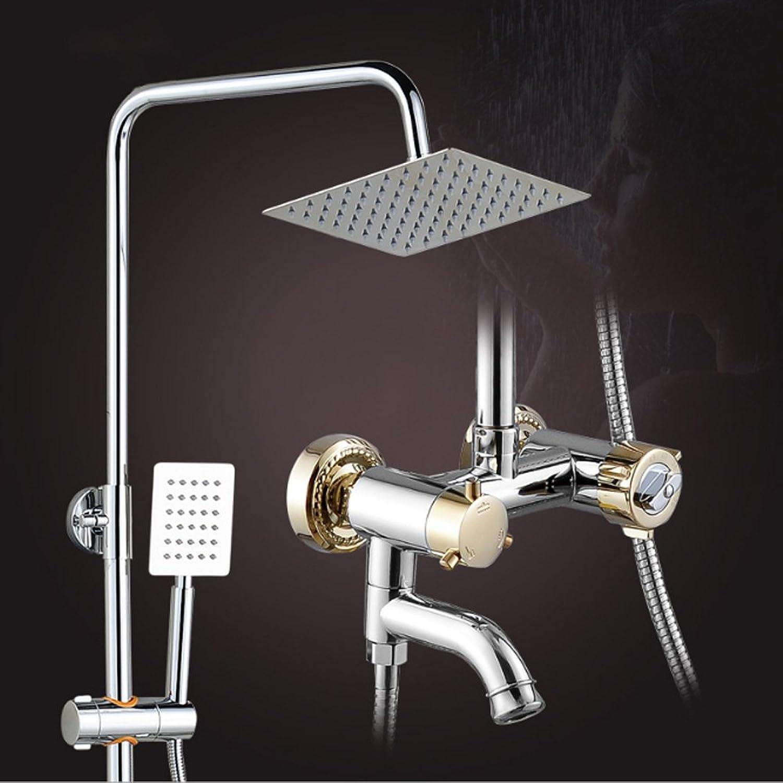Jiaju Smart thermostatic shower set copper faucet super pressurized stainless steel shower head concealed shower
