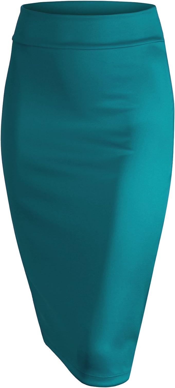 LL Womens Scuba Midi Skirt - Made in USA