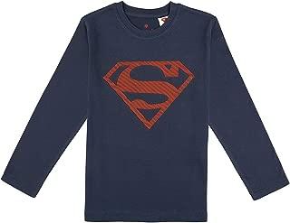 Superman Logo Baskılı Lacivert Tişört