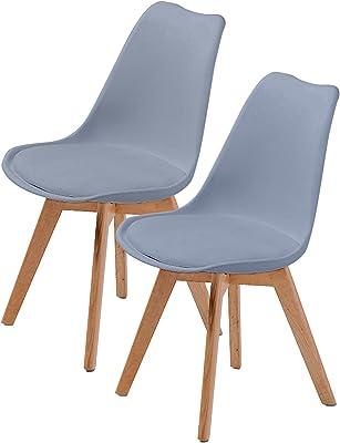 La Bella Replica Eames PU Padded Dining Chair - Grey X2
