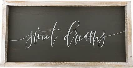 Paris Loft 19.7x10.1'' Sweet Dreams Rustic Wood Wall Sign Plaque