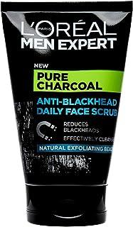 L'Oréal Paris Men Expert, ansiktsskrubb för män med fet hy, Pure Charcoal Face Scrub, 100 ml