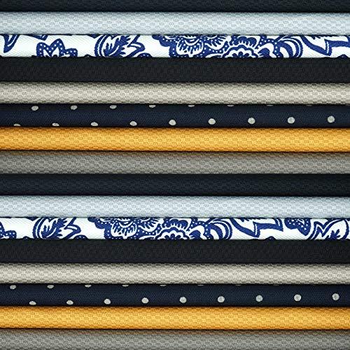 Master FAB Quilting Fabric Cotton Craft Fabric Bundles Precut for DIY Quilting (16pcs(Each 25cm25cm), Combo5(Mid))