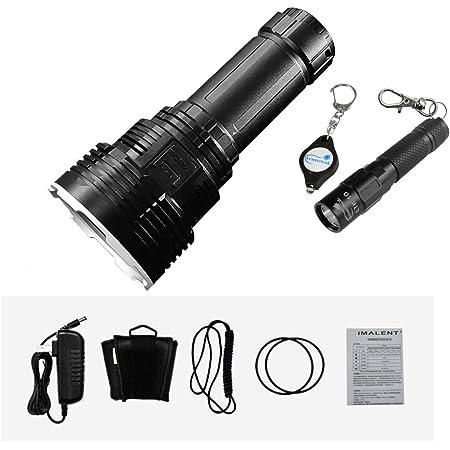 IMALENT DX80 32000 Lumens 8pcs CREE XHP70 2nd Generation LED Flashlight With Lumintrail LTK-10 Keychain Light (Black)