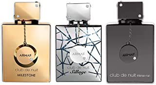 Armaf Perfumes Club De Nuit Eau De Parfum 30ml Gift Set - Milestone EDP 30ML, Sillage EDP 30ML, Club De Nuit Intense Man E...
