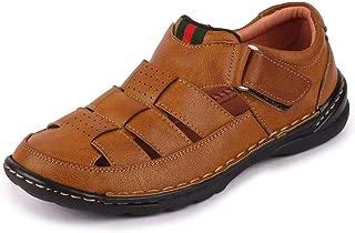 FAUSTO Men's Leather Roman Sandals