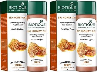 Biotique Bio Honey Gel Refreshing Foaming Face Cleanser, 120ml (Pack Of 2)