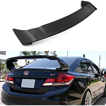 cciyu Black ABS Rear Spoiler Wing Accessories for 2016 2017 2018 for Honda Civic Stylish Trunk Spoiler Wing