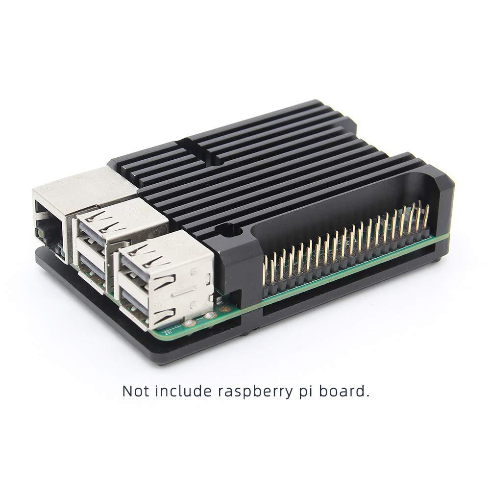 Geekworm Raspberry Pi Armadura Caja, Raspberry Pi Aluminio Caja Case con enfriamiento pasivo/disipación de Calor de la Carcasa para Raspberry Pi 3 B + / 3B: Amazon.es: Informática