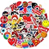 Sticker Pack Cool Stickers 100PCS, Durable, Waterproof, Aesthetic, Trendy Sticker Decals for Teens, Water Bottles Travel Case Sticker Door Laptop Luggage Car Bike Bicycle #1