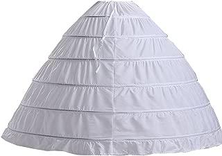 6 Hoop Long Petticoat Skirt Underskirt for Ball Gown Bridal Wedding Dress