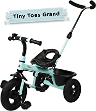 R for Rabbit Tiny Toes Grand Baby Tricycle Smart Plug & Play Stylish Tricycle for Kids Storage Basket,Parental Control Handle & Durable Rubber Wheels for Kids|Boys|Girls of 1.5 years to 5 Years(Lake Blue)