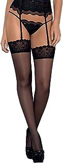 Selente Lovely Legs verführerische Damen Straps-Strümpfe mit edler Spitze, Made in EU
