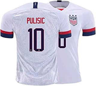 Pulisic #10 2019-2020 USA National Team Men's Home Soccer Jersey White
