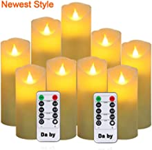 Da by Flameless Candles, Led Candles Set of 9(H 5