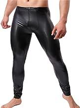 YUFEIDA Men's Faux Leather Tight Pants Man Leggings PVC Long Trousers