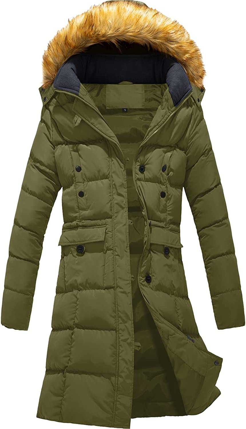 Szory Women's Winter Beauty products Down Virginia Beach Mall Puffer Mid Rem with Pocket Coat Length