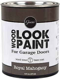 Giani Wood Look Paint for Garage Doors- Step 1 Wood Grain Base Coat Pint (Royal Mahogany)