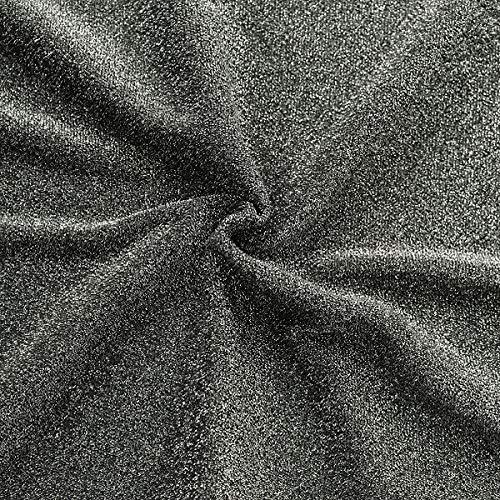STOFFKONTOR Lurex Jersey Stoff Glitter Meterware Schwarz