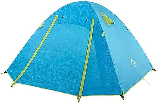 LZCWN Maison Famille Camping Tentes, Double Couche Imperméable 3-4 Personne Tente, pour Randonnée Tourisme Voyage Plage Soleil Abri Anti-UV Tente, Bleu