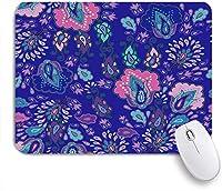 ECOMAOMI 可愛いマウスパッド ペイズリー花柄カーペットモロッコトルコインドネシア日本バティックデイジー 滑り止めゴムバッキングマウスパッドノートブックコンピュータマウスマット