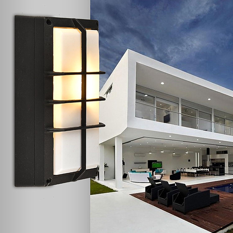 Draussen Villa Dome-Lampen Wandleuchte, AOKARLIA Hoch Wasserdicht   Durchlssigkeit Leuchter  Energie Sparen Beleuchtung Zum Hof,003