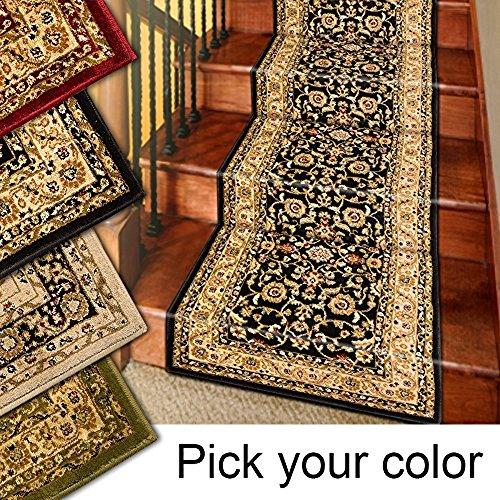 Preisvergleich Produktbild Marash Luxury Collection 25' Treppenläufer Teppiche Treppenteppichläufer mit 336.000 Points of Stoff pro Quadratmeter,  Sage