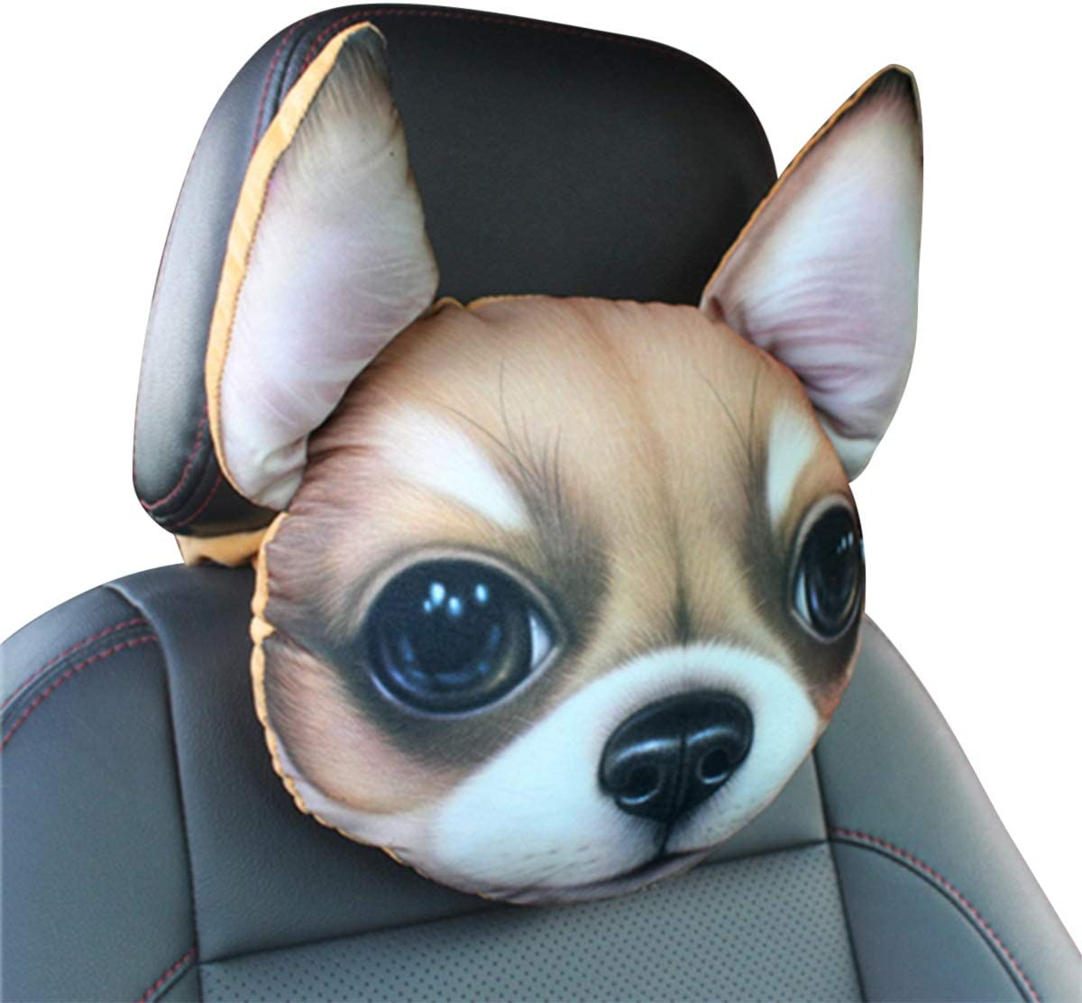 Ergocar Car Neck Japan's largest assortment Pillow Cute Dog Ranking TOP2 Headrest Head Cushi Cartoon
