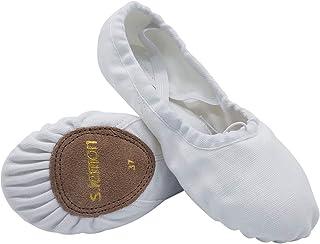 comprar comparacion S.lemon Doble Capa Lona Zapatos de Ballet Zapatillas de Baile para Niñas Mujeres Niños Hombres