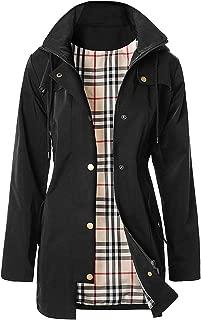 Women's Waterproof Raincoat Long Outdoor Rain Jacket